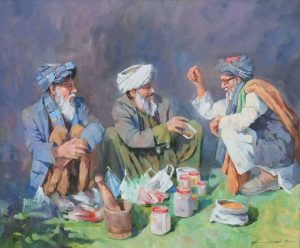 Pastun People Sitting Together