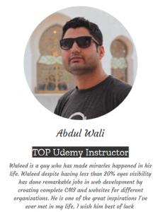 Avdul wali about waleed raza abbasi