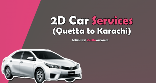2D Car Services Quetta To Karachi