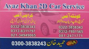 Ayaz 2D car service Quetta to Karachi
