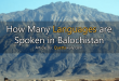 languages spoken in balochistan