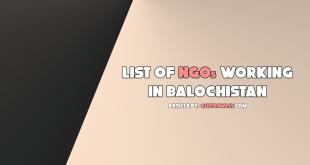 list of ngos working in balochistan
