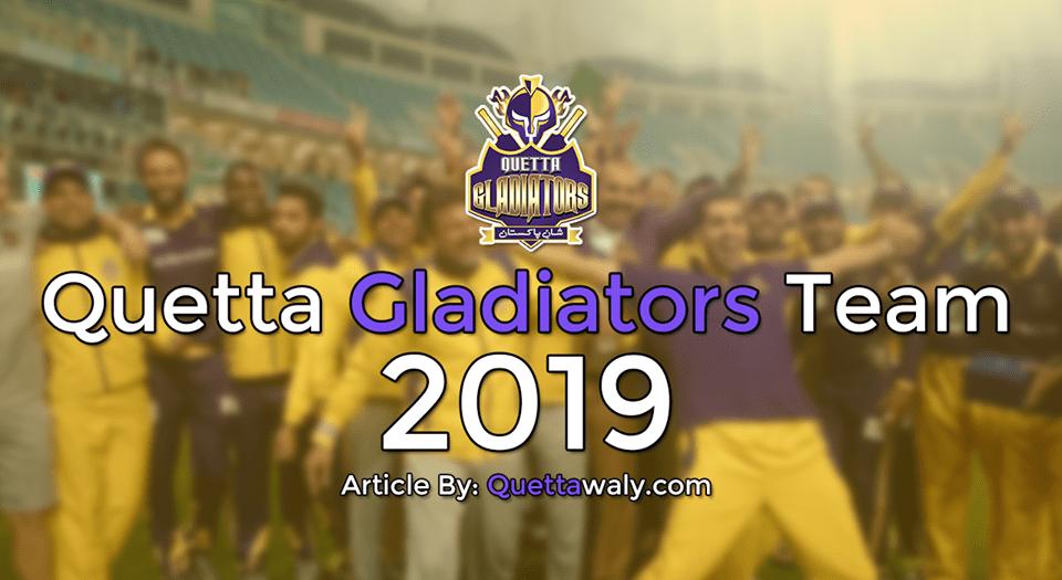 quetta gladiators team 2019