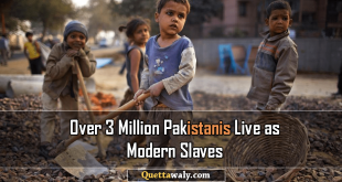 3 Million or More Pakistanis Live as Modern Slaves