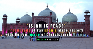 """ISLAM IS PEACE"" : Thousands of Pakistanis Made History with Human Image of Christchurch Mosque"