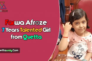 Farwa Afroze 7 Years Talented Girl from Quetta