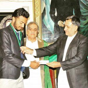 Hamayun Receiving Award