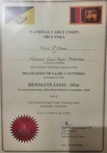 National Cadet Corps Sri Lanka Ranjhan Khan