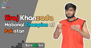 Siraj Khanzada National Champion of Pakistan