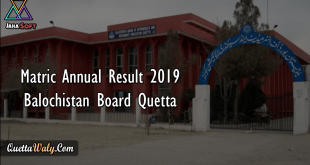 Matric Annual Result 2019 Balochistan Board Quetta
