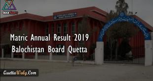 Matric Annual Result 2019 Balochistan Board Quetta