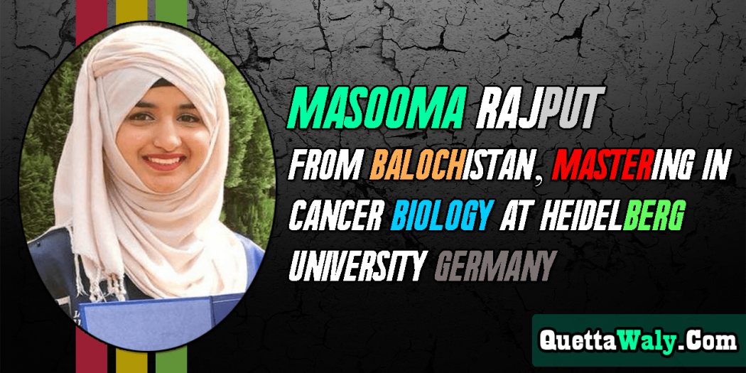 Masooma Rajput – Mastering in Cancer Biology at Heidelberg University Germany