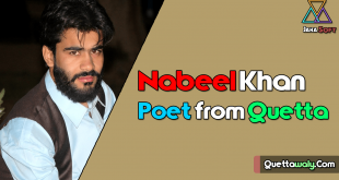 Nabeel Khan Poet from Quetta