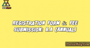 Registration Form & Fee Submission: B.A (Annual) Examination 2017-19