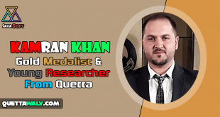 Kamran Khan - Gold Medalist & Young Researcher From Quetta