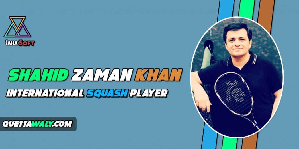 Shahid Zaman Khan - International Squash Player