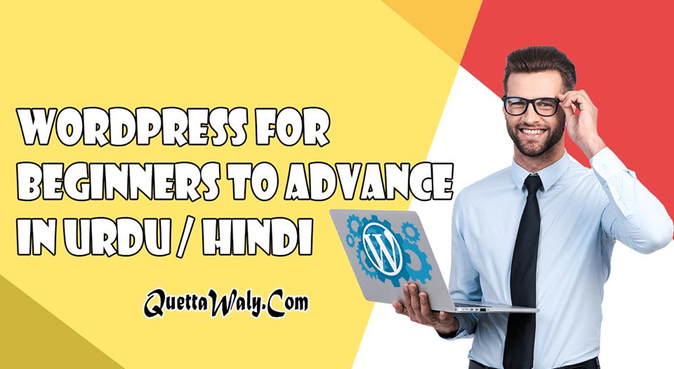 WordPress For Beginners To Advance in Urdu/Hindi