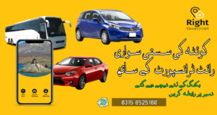 Right Transport 2D Car Service, Bus Services and Ride Sharing in Quetta