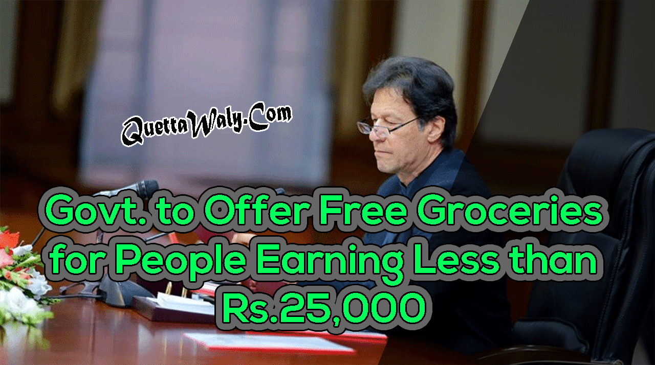 Govt. to Offer Free Groceries for People Earning Less than Rs. 25,000