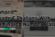 Lahoris Evade E-Challans With Laminated Number Plates